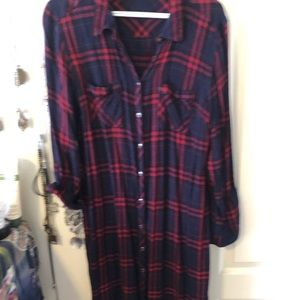 Maurices Plaid Duster // Size XL